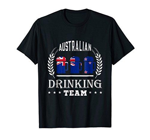 Beer Australian Drinking Team Casual Australia Flag T-Shirt