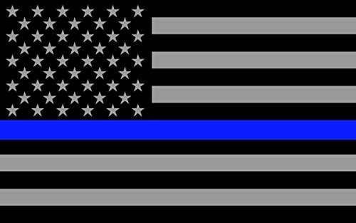 BLUE LINE STICKER DECAL (4-PACK) ALL LIVES MATTER SUPPORT LAW ENFORCEMENT. POLICE LIVES MATTER - SUBDUED LÍNEA AZUL DELGADO FLAG - (4-PACK) - BEST PRICE BUY - Linea Blue