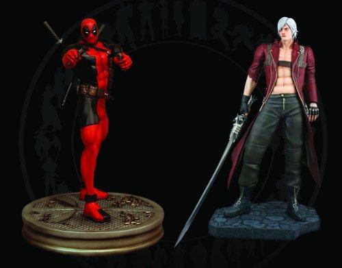 Hollywood Collectibles Marvel vs Capcom 3: 1:4 Scale Dante vs Deadpool Statues