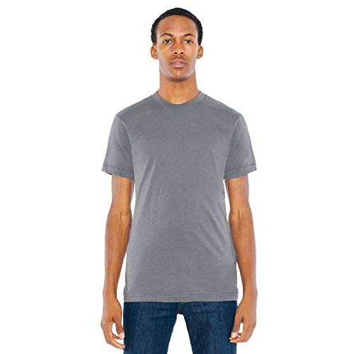 (American Apparel BB401W Unisex Poly-Cotton Crew Neck T-Shirt Asphalt L)