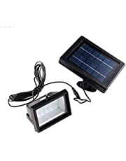 30LED 2.5W Solar LED Floodlight Outdoor Waterproof Landscape Garden Lawn Wall Light Lamp Cool White light