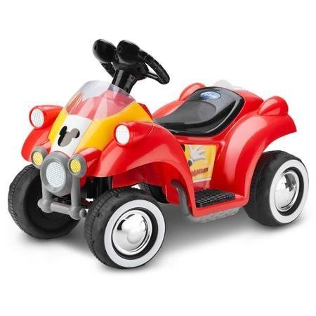 Mickey Mouse Hot Rod Quad 6v Battery-powered Ride-on By Kid Trax by Disney (Mickey Mouse Battery Powered Ride On Toy)