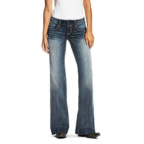 Ariat Womens Sophia Wide Leg Trouser Jean 27 R Moonstone