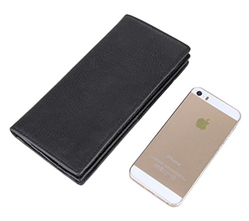 Wallet Wallet Artmi Long Coffee Card Purse Bifold Leather Holder 100 Genuine Black Real 0UvqFT