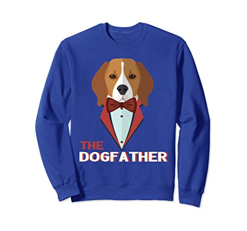 Unisex The DogFather Sweatshirt, Funny Dog Dad Lover Gift 2XL Royal - Dogfather Co &