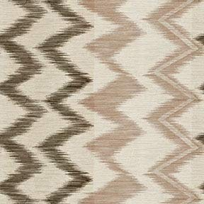 Truffle Cream Beige Taupe Contemporary Ikat Large Scale Woven Jacquards Upholstery Fabric by the yard