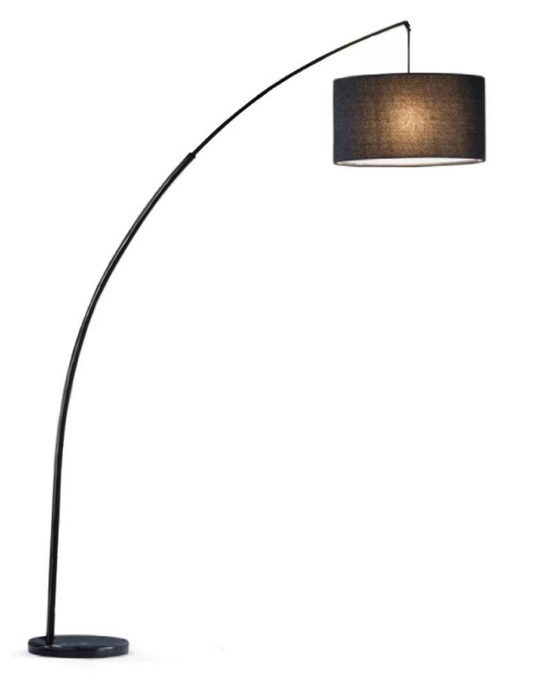 SH アーチ型フロアランプ 照明スチール 調節可能 大理石の土台 EXTRA LARGE 6938WH 1 B01N4H0CDX 6938BK-XLarge-Shade 6938BK-XLarge-Shade