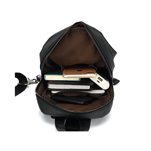Backpack Chest Bag Small Man's Leather Pu Umily Cool Sling Hiking Satchel Crossbody Bags Shoulder wOqYFg