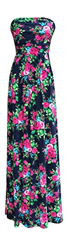 Lucky Love Maxi Dresses for Women, Plus Size Summer Beach Dress, Strapless, Vintage Floral by Lucky Love (Image #3)