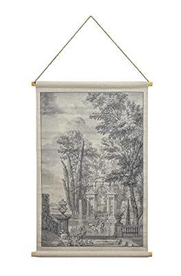 Habitat Italian Garden Hanging Linen Tapestry, Grey