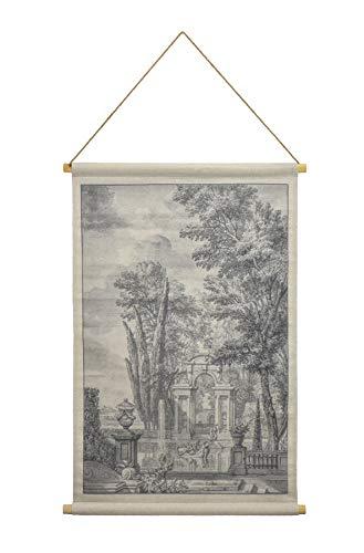 Habitat Italian Garden Hanging Linen Tapestry, Grey from Habitat