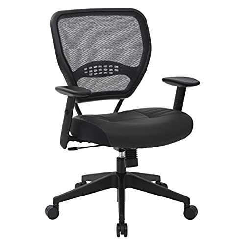 SPACE Seating Professional AirGrid Dark Back and Padded Black Eco Leather Seat 2-to-1 Synchro Tilt Control Adjustable Arms and Tilt Tension with Nylon ...  sc 1 st  Amazon.com & Best Ergonomic Office Chair: Amazon.com