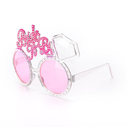 TUANTUAN 1 Pcs Funny Bride To Be Glasses Bachelorette Hen Party Supplies - Bride To Be Hen Costume