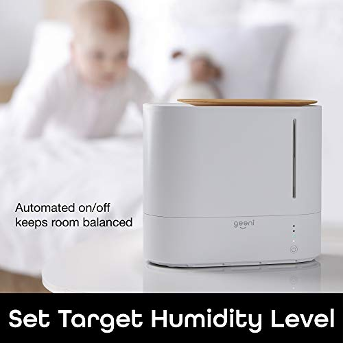 Geeni, Soothe Wi-Fi Smart Humidifier, Quiet Ultrasonic Cool Mist Humidifier with Humistat Humidity Control, Essential Oil Diffuser, App Control, Compatible with Alexa and Google Assistant