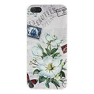 SHOUJIKE White Flower Pattern Hard Case for iPhone 5/5S