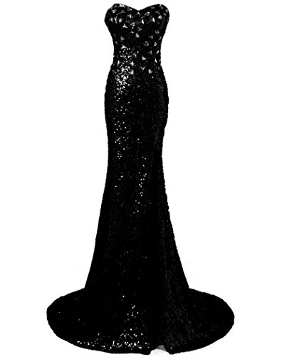 Belle sd114 Formal Evening Sequins Prom Dresses House Gowns Long Black Dresses Ball Women's BcqrwBA7