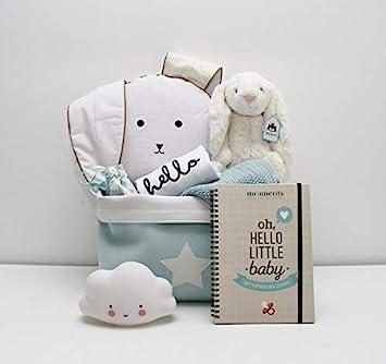 Canastilla Cesta regalo bebé UNISEX / Cool Baby - Con Peluche, Albúm de nacimiento,