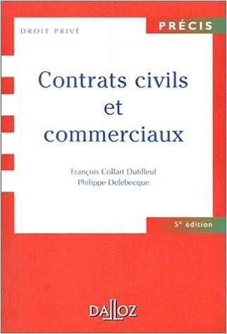 Contrats civils et commerciaux, 5e édition pdf, epub