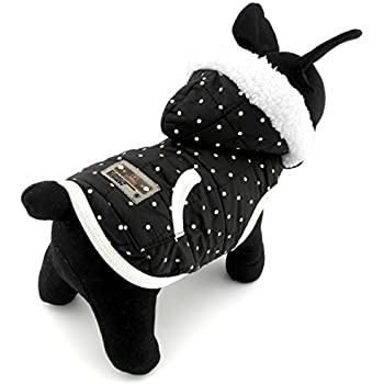 Amazon.com : PEGASUS SELMAI Windproof Puppy Coat Hooded