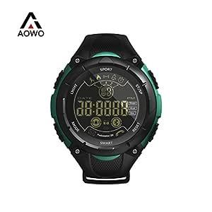 AOWO X7 Bluetooth Smartwatch Men Reloj Inteligente Digital IP68 a Prueba de Agua 5ATM Llamada SMS Notificación Sport Smartwatch con retroiluminación ...
