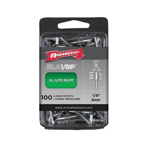 - Arrow Fastener RLA1/8 1/8' x 1/2' Long Aluminum Rivet 15 per Package