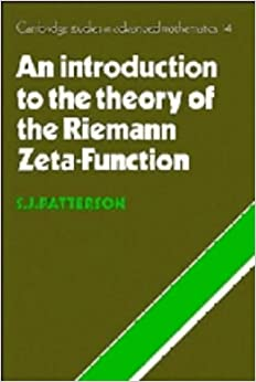 An Introduction to the Theory of the Riemann Zeta-Function (Cambridge Studies in Advanced Mathematics)