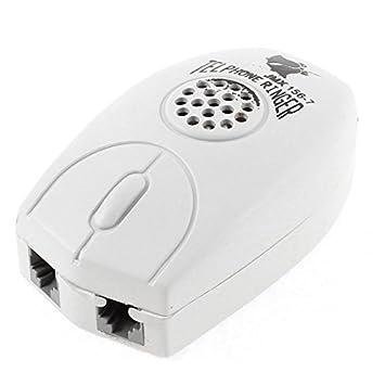 Telefone Anel 3 portas RJ11 Feminino Amplificador Ringer Cinza