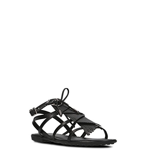 Women's Tod's Black Sandals Xxw0ov0y430gocb999 Leather HArqAZxwd
