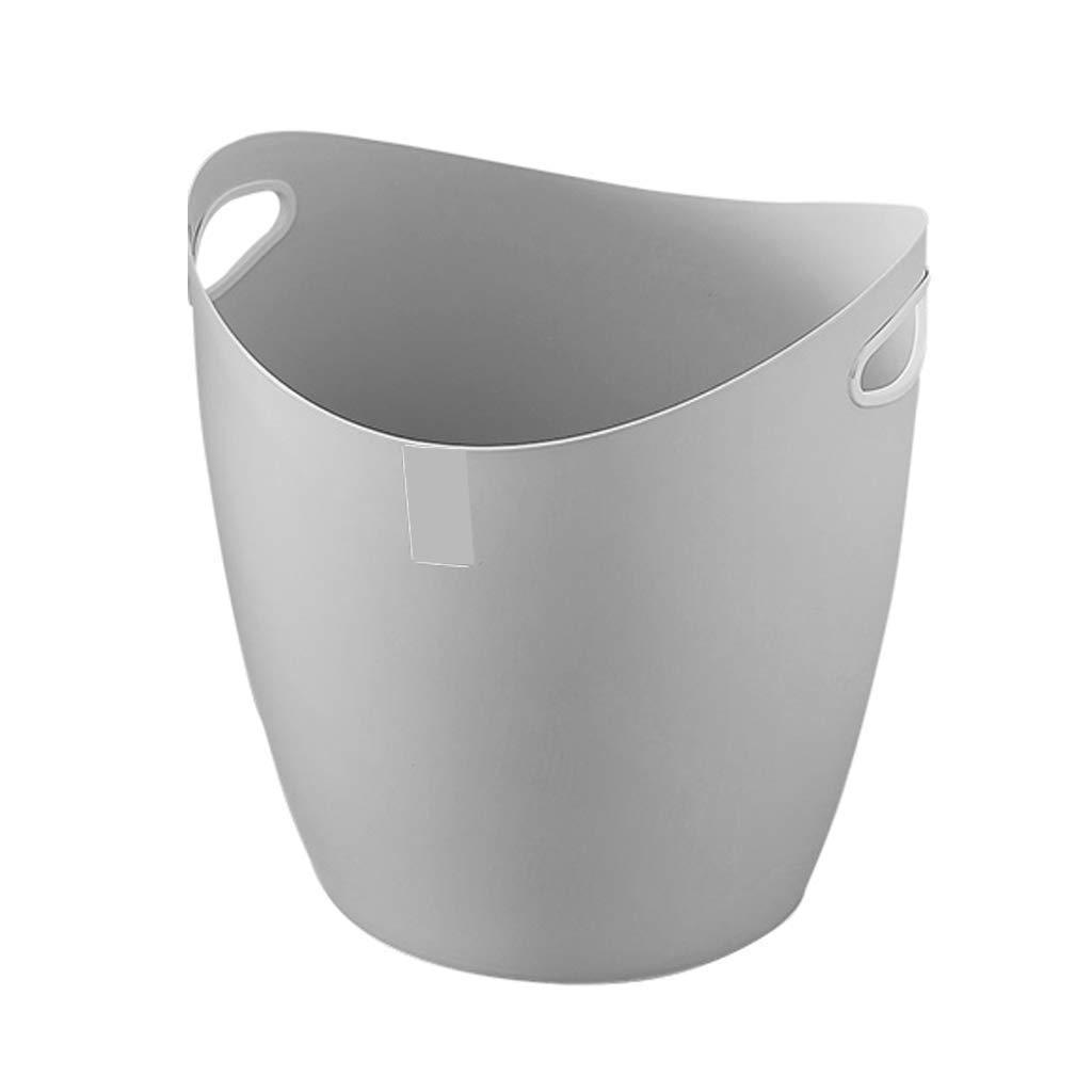 LTS 収納バスケットプラスチック仕上げバスケットおもちゃ雑貨収納収納バスケット 収納バスケット (Color : Light Gray) B07PYSMC8T Light Gray