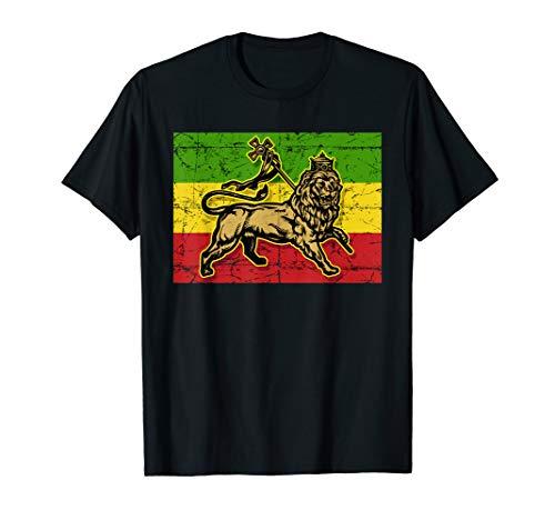 Lion of Judah Rasta Ethiopian Cross Reggae Old Ethiopia Flag T-Shirt - http://coolthings.us