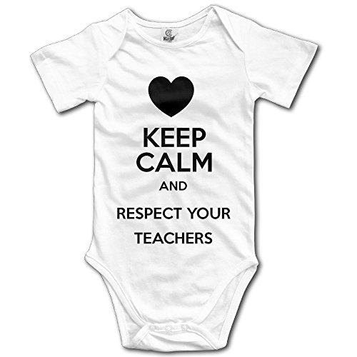 Cupcake Costumes Toddler Old Navy (Girl Boy Clothing Keep Calm And Respect Your Teachers Short-Sleeveless Romper Jumpsuit Bodysuit 12 Months)