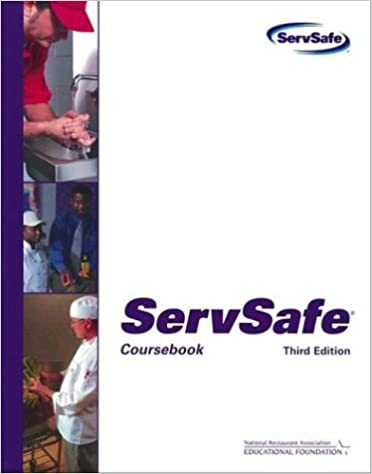 ServSafe: Coursebook with the Scantron Certification Exam Form ...
