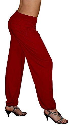 S&LU - Pantalón - para mujer rojo oscuro