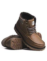 BLACKWELL Mens Logan Vegan Leather Moc Toe Lace-Up Boot