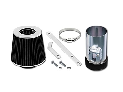 Velocity Concepts Black Short Ram Air Intake Kit + Filter 04-11 For Ford Crown Victoria 4.6L V8 06-09 Fusion 3.0L ()