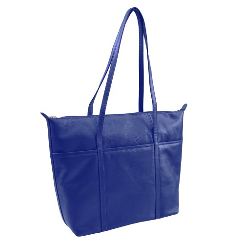 ili Leather Tote Handbag (Cobalt)