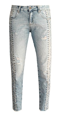 Jeans W7157 taille Blue Zhrill unique Femme npPqwpdY