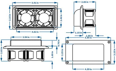 Casinlog Ventilador de Escape Utilizado para Campana Extractora de Autocaravana Blanco: Amazon.es: Coche y moto