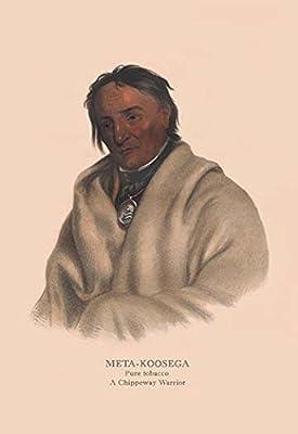 "Meta-Koosega (Chippewah Warrior)Fine art canvas print (20"""" x 30"""")"