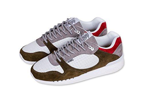 DjinnsEasyrun Full Effect Sneaker - Zapatillas de casa Hombre atmosphere/white/olive