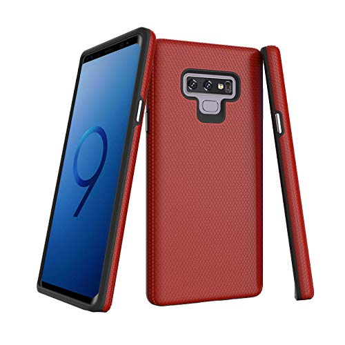 Galaxy Note 9 Case, APEXcase Easy Grip Premium Design Slim Fit Shock Absorption Bumper Soft TPU for Samsung Note 9 (Red, Galaxy Note 9)