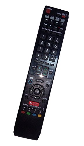 Replaced Remote Control Compatible for Sharp LC70LE745U LC-70LE650U LC-60LE830U LC70LE835 LC60LE830 AQUOS LED LCD HD TV with NETFLIX 3D Button
