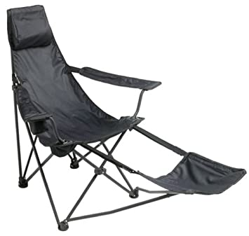 Wonderful Amazon.com : Mac Sports Black Cannon Beach Deluxe Folding Chair With  Footrest : Lawn Chairs : Garden U0026 Outdoor