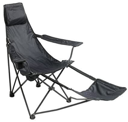 Charmant Mac Sports Black Cannon Beach Deluxe Folding Chair With Footrest