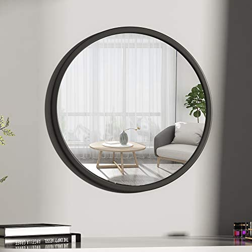 TMGY Gold Round Mirror Wall Mounted,Large Circle Mirrors for Wall Decor,23.6in Big Metal Frame Wall Mirror,Modern Vanity Mirror for Living Room Bathroom Bedroom