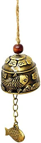アンティーク 調 ドアベル ジュエリー小さなギフト恋銅の飾り小さな銅ベルペンダントドアベル 呼び鈴 アイアン (Color : Brass, Size : One size)