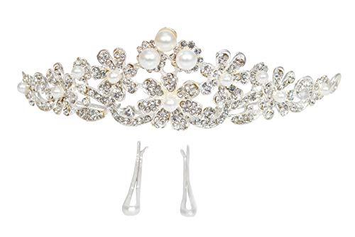Vogue Hair Accessories Wedding Bridal Tiara Crown with Hair Pin (Style 1)