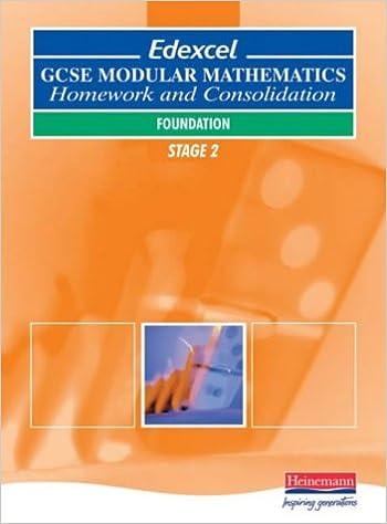 Read online Edexcel GCSE Modular Maths: Foundation Stage 2 - Homework & Consolidation PDF, azw (Kindle)