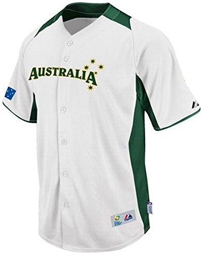 VF Team Australia Majestic 2013 Mens World Baseball Classic On Field Authentic White Jersey Size ()