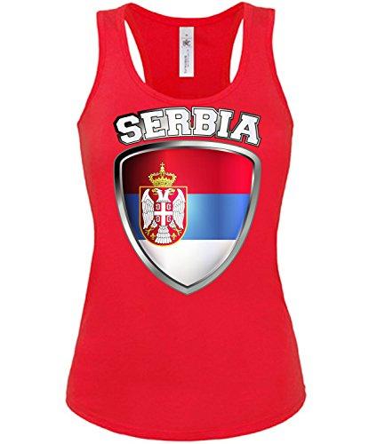 Copa del Mundo de fútbol - Campeonato de Europa de Fútbol - SERBIA FANmujer camiseta Tamaño S to XXL varios colores S-XL Rojo
